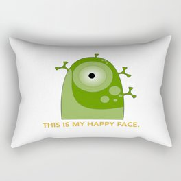This is my happy face. Rectangular Pillow