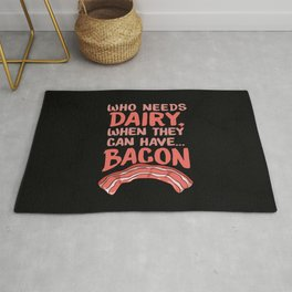 Dairy Free Dairy Allergy Awareness Bacon Rug