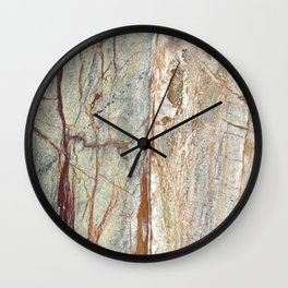 Brown onyx home decor marble texture photo print Wall Clock
