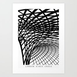 King's Cross London, a Magnificent Ceiling Illustrated Art Print Art Print