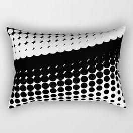 Half Tone Curve Rectangular Pillow