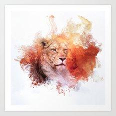 Expressions Lioness Art Print