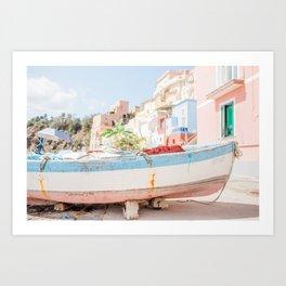 Italia Procida Harbour Art Print