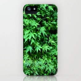 Military support Glow Japanese Maple iPhone Case