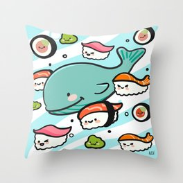 Sushi Bunch Throw Pillow
