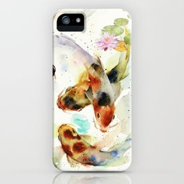 Watercolor Koi Pond iPhone Case