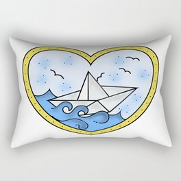 Paper boat ❤ Rectangular Pillow
