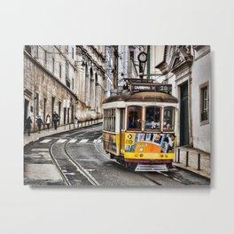 No. 28 Tram in Lisbon 2 Metal Print