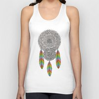 dream catcher Tank Tops featuring Dream Catcher by Luna Portnoi