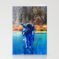 astronaut Stationery Cards featuring Astronaut by John Turck