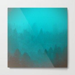 PNW Fog Forest Metal Print