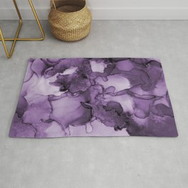 Color me purple- Abstract Painting Rug