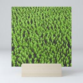 Like Blades of Grass / Large crowd of people illustration Mini Art Print