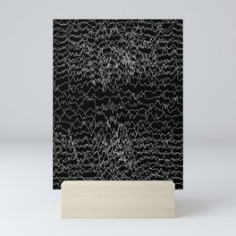 Pattern Collection. Black and White. Waves. Heart Rate Mini Art Print