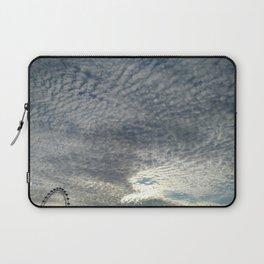 London Eye, Cloudy Sky Laptop Sleeve