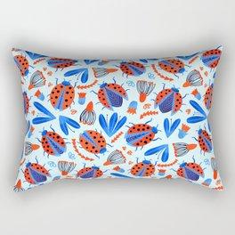 Classic Ladybug Botanical  Rectangular Pillow