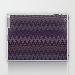 Dark purple blue zigzag Laptop & iPad Skin