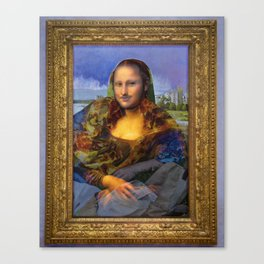 Mona (Kevin) Lisa : Satire + Contemporary Fine Art Canvas Print