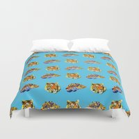 tigers Duvet Covers featuring Tigers by Nahal