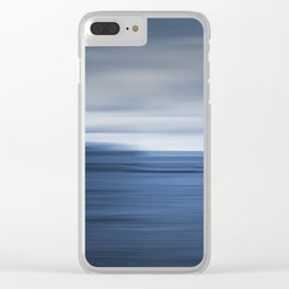 Under a Deep Blue Sky Clear iPhone Case