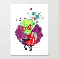 invader zim Canvas Prints featuring Invader Zim Hug by Super Group Hugs