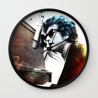 dylan Wall Clocks featuring Bob Dylan by Maioriz Home