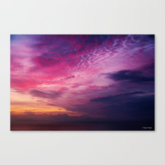 Red Sky Sunrise Canvas Print