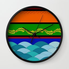 line and wave Wall Clock