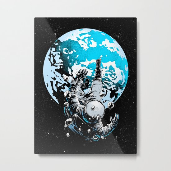 The Lost Astronaut  Metal Print