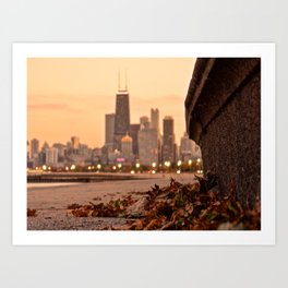 Chicago of the Leaves  Art Print