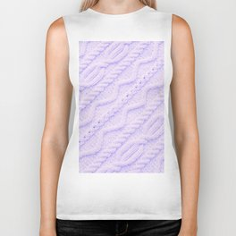 Lavender Cableknit Sweater Biker Tank