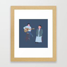 Singing that song Framed Art Print