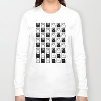 chess Long Sleeve T-shirts featuring A Chess of Cats by General Design Studio