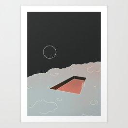 Moon Pool Art Print