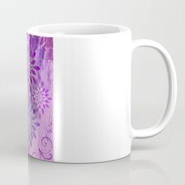 LACE AND LEATHER - Underwear Love Project Deep Purple Lace Pattern Fancy Elegant Typography Abstract Coffee Mug