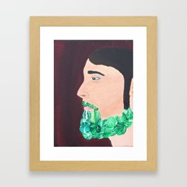 Brussel Beard Framed Art Print