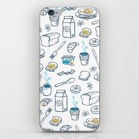 breakfast iPhone & iPod Skins featuring BreakfasT by Ceren Aksu Dikenci