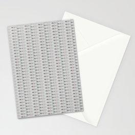 Geometric Doodle Stripes Grey Pink Stationery Cards