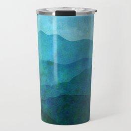 Blue Abstract Landscape Travel Mug