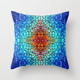 Inner Vision - Colorful Spiritual Abstract Art By Sharon Cummings Throw Pillow