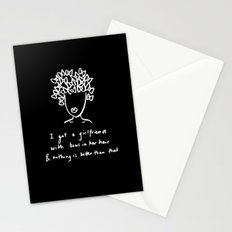 girlfriend is better Stationery Cards