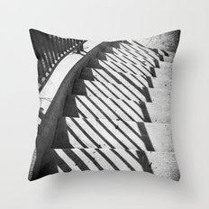 Stairway shadows Throw Pillow
