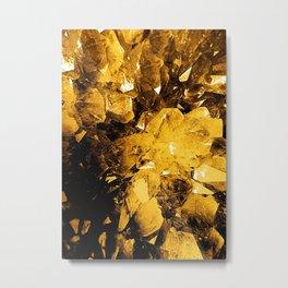 Golden Geode Metal Print