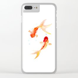 Goldfish, Two Koi Fish Clear iPhone Case