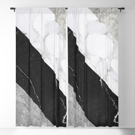Contemporary Marble Stone Rays Blackout Curtain