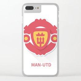 Manchester United Flat Design Clear iPhone Case