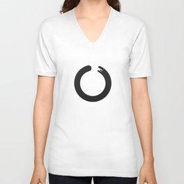 Zen Enso circle Unisex V-Neck