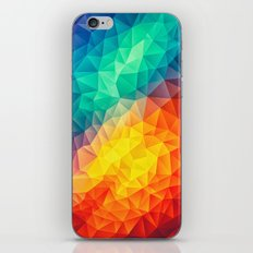 Abstract Multi Color Cubizm Painting iPhone Skin