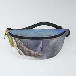 Wild waterfall in abstract Fanny Pack