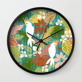 Bohemian Bahama -Tropical Pattern Wall Clock